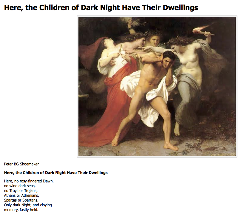 Here, the children of dark night have their dwellings